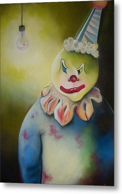 Wicked Clown Metal Print by Tracey Levine