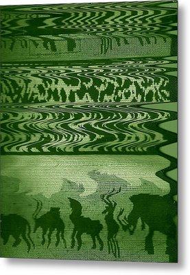 Wild  And Ziggy Animals In A Row  Metal Print by Anne-Elizabeth Whiteway