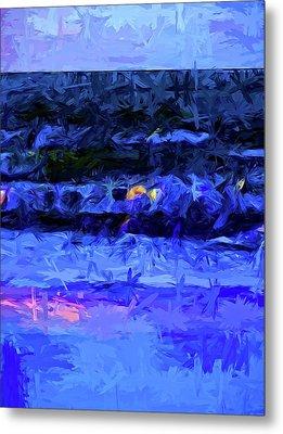 Wild Blue Sea Under The Lavender Sky Metal Print