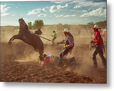 Wild Horse Race Metal Print