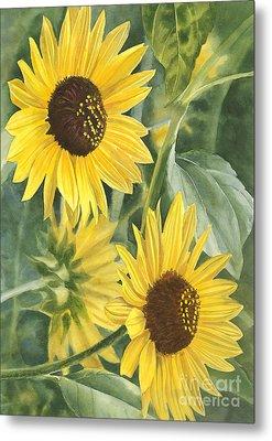 Wild Sunflowers Metal Print by Sharon Freeman