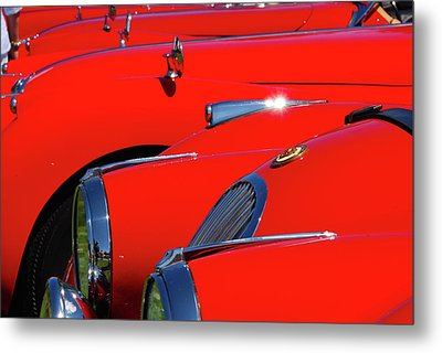 Metal Print featuring the photograph Will The Owner Of The Red Car by John Schneider