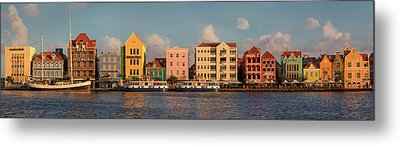 Willemstad Curacao Panoramic Metal Print by Adam Romanowicz