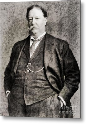 William Howard Taft, President Of The United States By John Springfield Metal Print