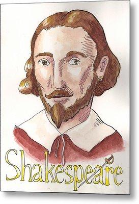 William Shakespeare Metal Print by Whitney Morton