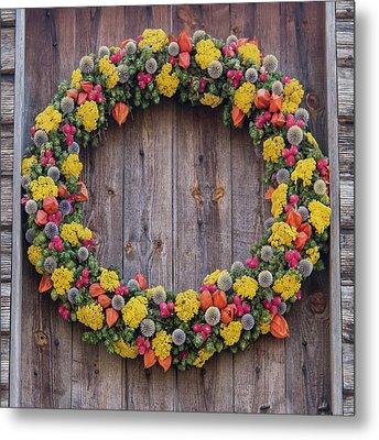 Williamsburg Wreath 82 Metal Print