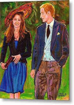 Wills And Kate The Royal Couple Metal Print by Carole Spandau