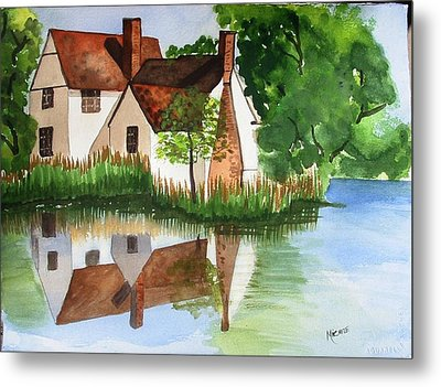 Willy Lotts Cottage Metal Print