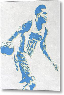 Wilson Chandler Denver Nuggets Pixel Art Metal Print