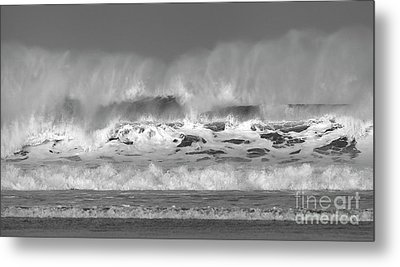 Metal Print featuring the photograph Wind Blown Waves by Nicholas Burningham