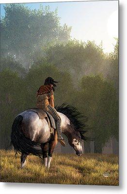 Metal Print featuring the digital art Wind Of The Forest by Daniel Eskridge