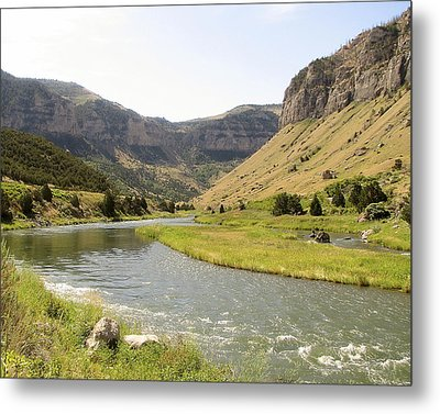 Wind River Canyon 1 Metal Print by George Jones
