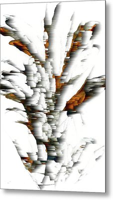 Metal Print featuring the painting Wind Series 05.072311windblastscvss by Kris Haas