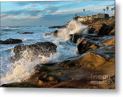 Metal Print featuring the photograph Windansea Beach At High Tide by Eddie Yerkish