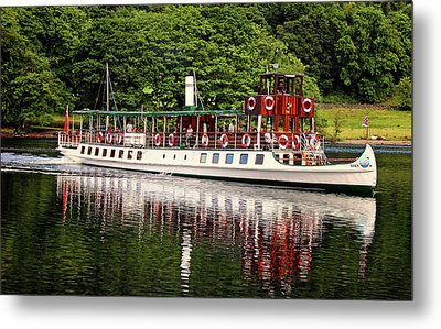 Windermere Steamer Metal Print by Martin Newman