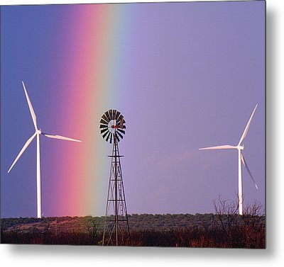 Windmill Promises Old And New Metal Print