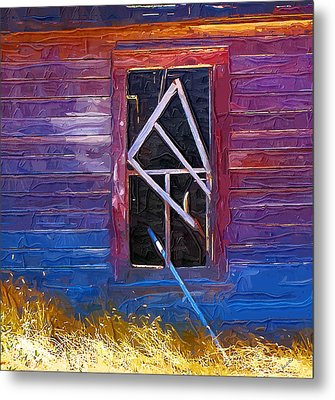 Metal Print featuring the photograph Window-1 by Susan Kinney