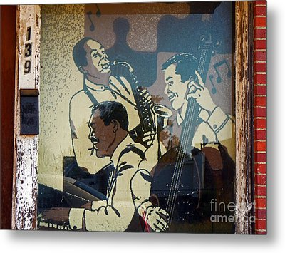 Window Jazz Metal Print