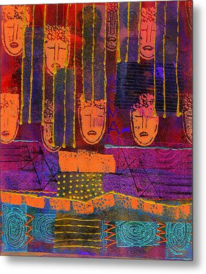 Metal Print featuring the painting Window Shopping by Angela L Walker