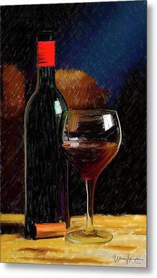 Wine Cellar 01 Metal Print by Wally Hampton