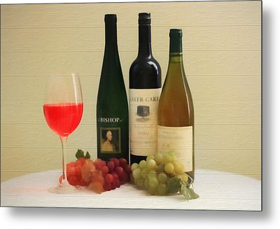 Wine Display Barn Door  Metal Print
