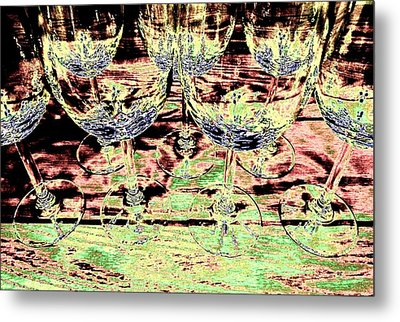 Wine Glasses Metal Print by Will Borden