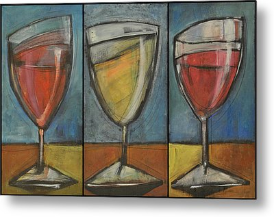 Wine Trio - Option One Metal Print
