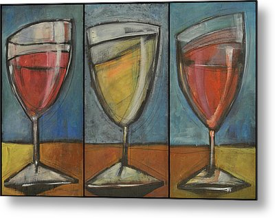 Wine Trio Option 2 Metal Print