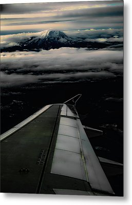 Wings Over Rainier Metal Print by Jeffrey Jensen