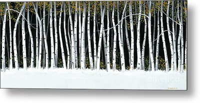Metal Print featuring the painting Winter Aspens II by Michael Swanson