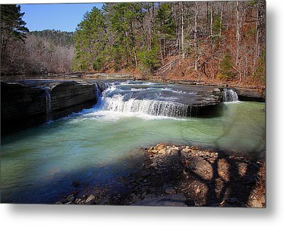 Metal Print featuring the photograph Winter At Haw Creek Falls by Michael Dougherty