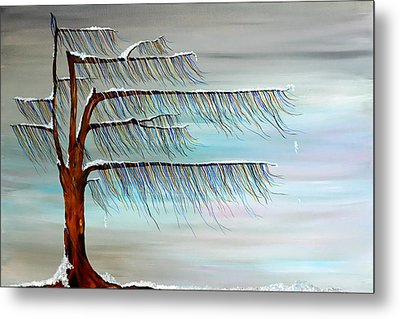 Winter Blues Metal Print by Andrea Youngman