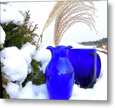 Winter Blues II Metal Print by Randy Rosenberger