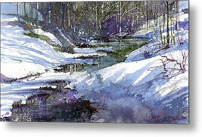 Winter Creekbed Metal Print by Andrew King