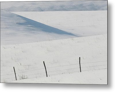 Winter Day On The Prairies Metal Print by Mark Duffy
