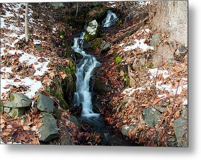 Winter Falls At Franny Reese Metal Print by Jeff Severson