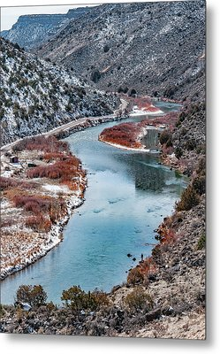 Metal Print featuring the photograph Winter Fisherman by Britt Runyon