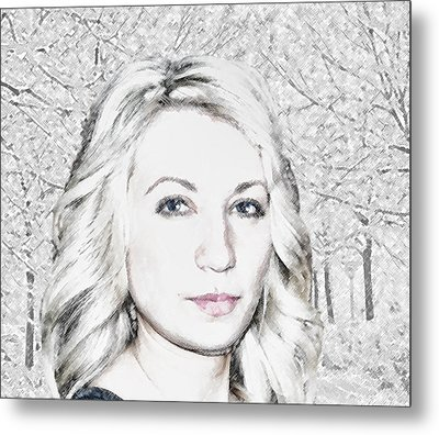 Winter Girl Metal Print by Svetlana Nassyrov