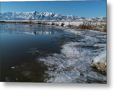Winter Ice Flows Metal Print by Justin Johnson