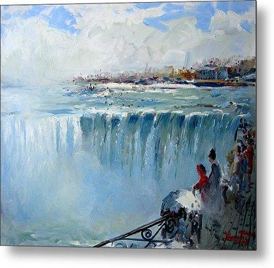 Winter In Niagara Falls Metal Print