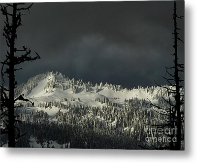 Winter In North Cascades Metal Print