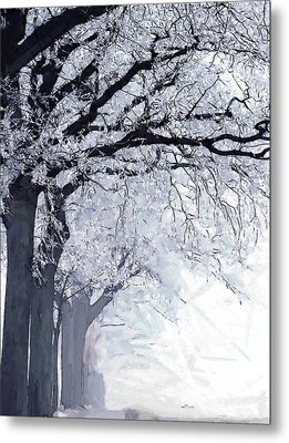 Winter In Our Street Metal Print by Steve K