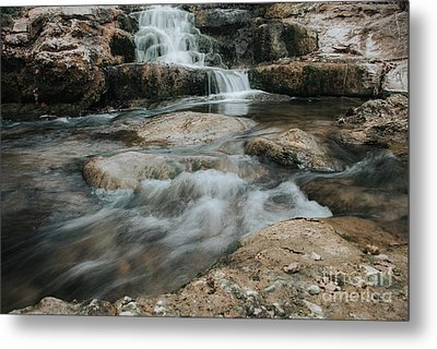 Metal Print featuring the photograph Winter Inthe Falls by Iris Greenwell