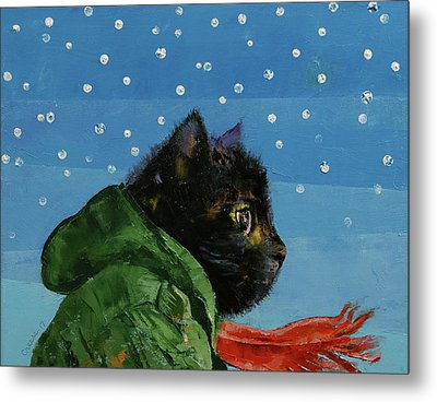 Winter Kitten Metal Print by Michael Creese