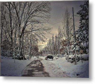Winter Landscape Metal Print by Mikki Cucuzzo