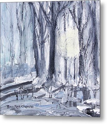Metal Print featuring the painting Winter Light by Robin Maria Pedrero