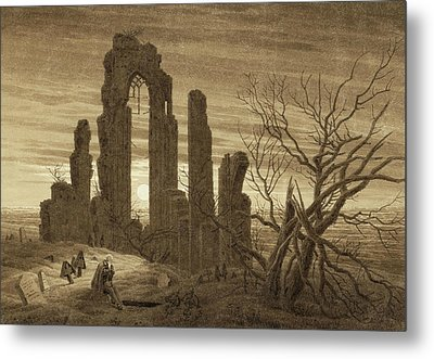 Winter - Night - Old Age And Death Metal Print