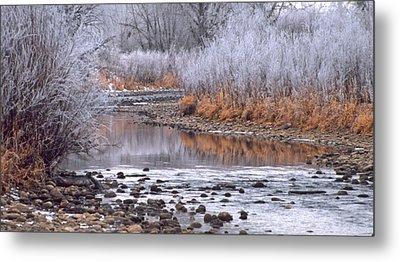 Winter River Metal Print by Bruce Gilbert