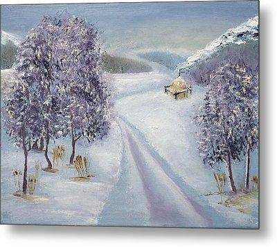 Winter Road Metal Print by Minnur Galimzyanova