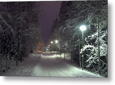Metal Print featuring the photograph Winter Scene 6 by Sami Tiainen